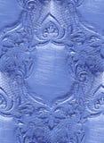 Blindaje en blanco, diseño floral, grabando Foto de archivo libre de regalías