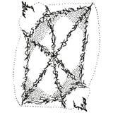 Blindaje estilizado abstracto de B&W Foto de archivo