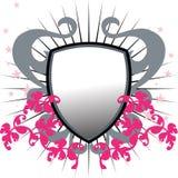 blindaje floral del grunge   Imagen de archivo libre de regalías