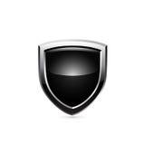 Blindaje negro Vector Fotografía de archivo libre de regalías
