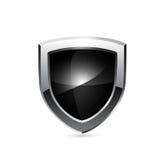 Blindaje negro Vector Imágenes de archivo libres de regalías