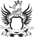 Blindaje retro de Grunge con la pista del griffon Fotografía de archivo libre de regalías
