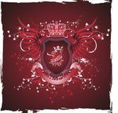 Blindaje retro de Grunge con la pista del griffon ilustración del vector