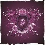 Blindaje retro de Grunge con la pista del griffon Imagen de archivo libre de regalías