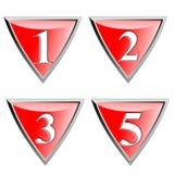 Blindaje rojo con números Imágenes de archivo libres de regalías