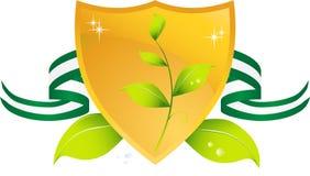 Blindaje verde que va stock de ilustración