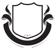 Blindaje y cinta bandera Elemento heráldico del diseño stock de ilustración