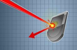 Blindaje y soplo ilustración del vector