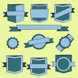 Blindajes de la insignia y colección modernos de la escritura de la etiqueta Imagen de archivo libre de regalías