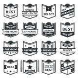 Blindajes de la insignia y colección modernos de la escritura de la etiqueta Foto de archivo libre de regalías