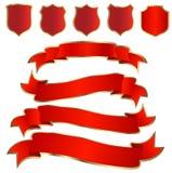 blindajes y cintas rojos
