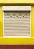Blinddeur of rollende deur Stock Afbeeldingen