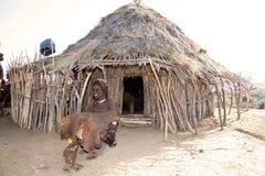Blinde afrikanische Frau Stockfotos