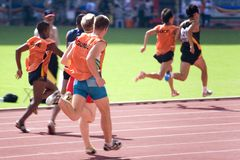 Blinde Athleten Stockfotografie