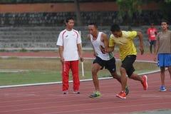 Blinde Athleten Stockbilder
