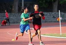 Blinde Athleten Stockfotos
