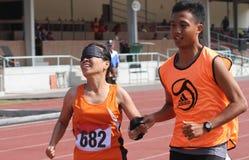 Blinde Athleten Lizenzfreies Stockfoto