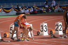 Blinde Atleet Stock Afbeelding