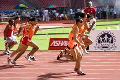 Blinde Atleten Royalty-vrije Stock Foto