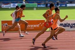Blinde Atleten Stock Foto's