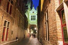 Blinde-Ezelstraat em Bruges Imagens de Stock Royalty Free