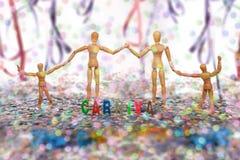 Blinde Familien-Karnevals-Partei-Zeit Lizenzfreie Stockfotografie