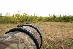 Blinde Fell-Vogelphotographie auf dem Gebiet Lizenzfreie Stockfotos
