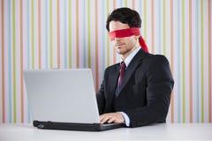 Blinde Geschäftsmannfunktion Lizenzfreie Stockfotos