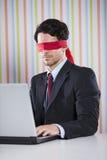 Blinde Geschäftsmannfunktion Lizenzfreie Stockbilder