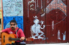 Blinde jongen in Cuba Royalty-vrije Stock Afbeeldingen