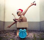 Blinde Körperteile mit Weihnachtsdekorationen Stockbilder