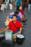 Blinde Musikerausführung Stockfotografie