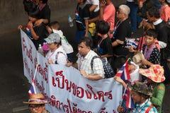 Blinde Organisation an der regierungsfeindlichen Demonstration Thailand Stockfotografie