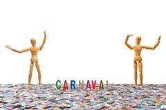 Blinde Paare und Karnevals-Partei Stockfotos