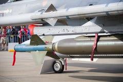 Blinde Rakete auf einem Kampfflugzeug Lizenzfreies Stockfoto