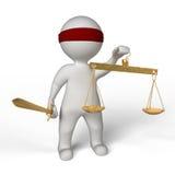 Blinde rechtvaardigheid Vector Illustratie
