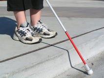 Blinde reiziger stock foto