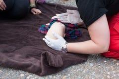 Blinde Säuglingserste Hilfe CPR Lizenzfreie Stockfotografie