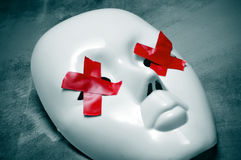 Blinde weiße Maske Lizenzfreie Stockbilder