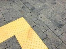 Blinde Weise Verkehrsweg für die blinden Völker verwendet Stockbilder