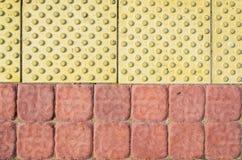 Blinde Weise Verkehrsweg für blinde Völker Stockfotografie
