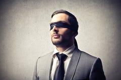 Blinde zakenman royalty-vrije stock foto's