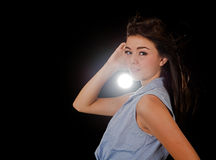 Blinded by beauty Royalty Free Stock Photo