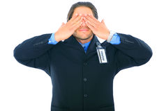 Blinded Businessman Stock Photo