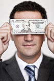 Blinded by the money Stock Photography