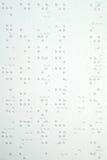 Blindenschrift Lizenzfreies Stockfoto