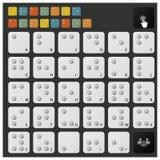 Blindenschrift-Alphabet-Ikonen-Satz Lizenzfreies Stockfoto