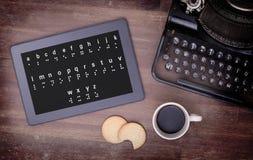 Blindenschrift auf einer Tablette, Konzept der Unmöglichkeit Lizenzfreies Stockfoto