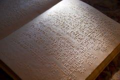 Blindenschrift-Buch Lizenzfreies Stockfoto