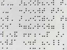 Blindenschrift-Codehintergrund bstract Hintergründe und Beschaffenheiten Stockfoto